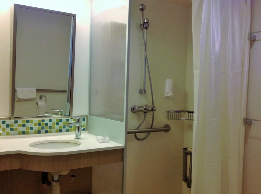 Banheiro da cabine acessível