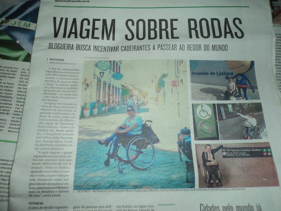 Cadeira Voadora na imprensa: reportagem do jornal O Tempo.