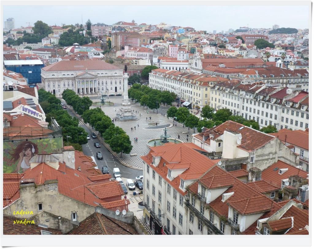 A bela Praça do Rossio