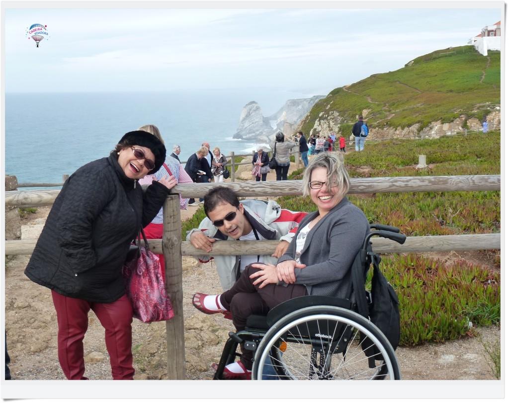 Lilia, João e eu no Cabo da Roca.
