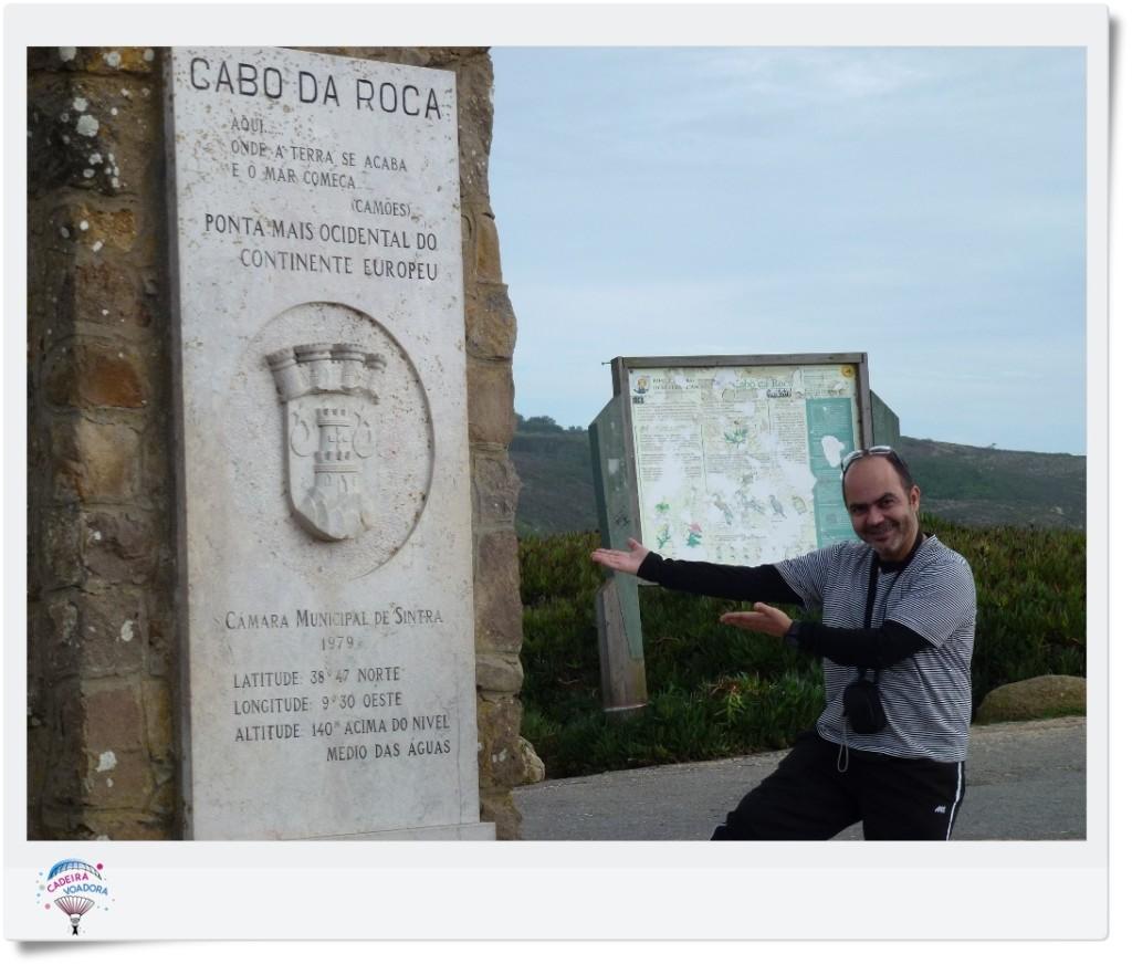 Ulysses te mostra as inscrições no Cabo da Roca, com poema de Camões.