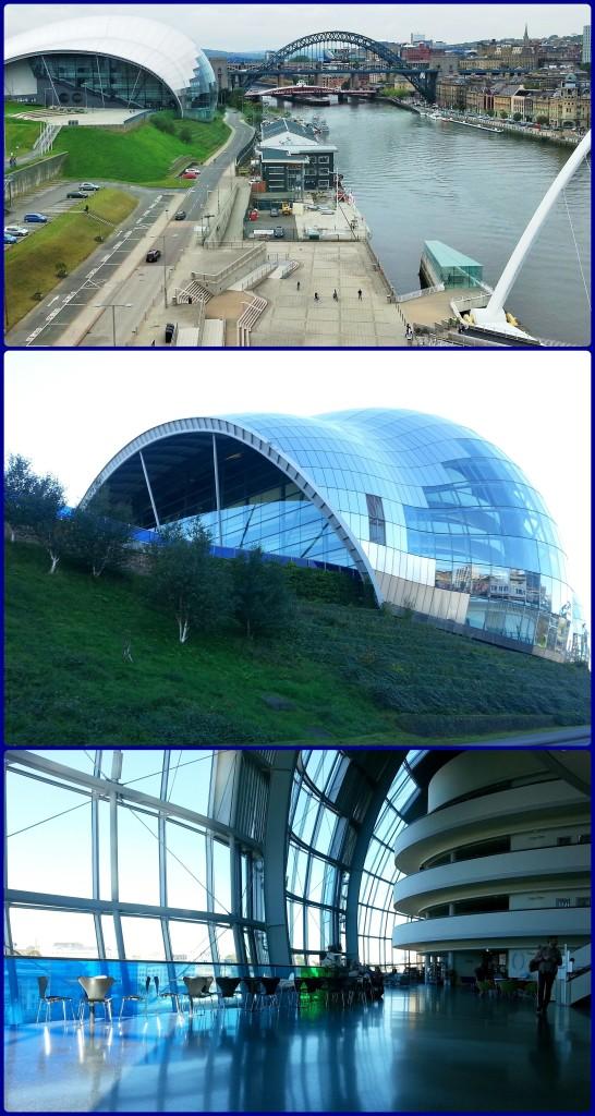 Observe três vistas do Sage: a primeira, externa, obtida do 5º andar do Baltic. A segunda, obtida da rua. A terceira é interna. Linda, não?