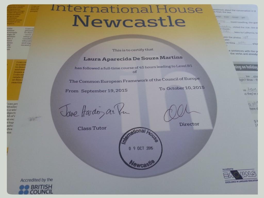Meu certificado!!! Mais que uma folha de papel, a comprovação de que podemos voar longe com um bom planejamento!