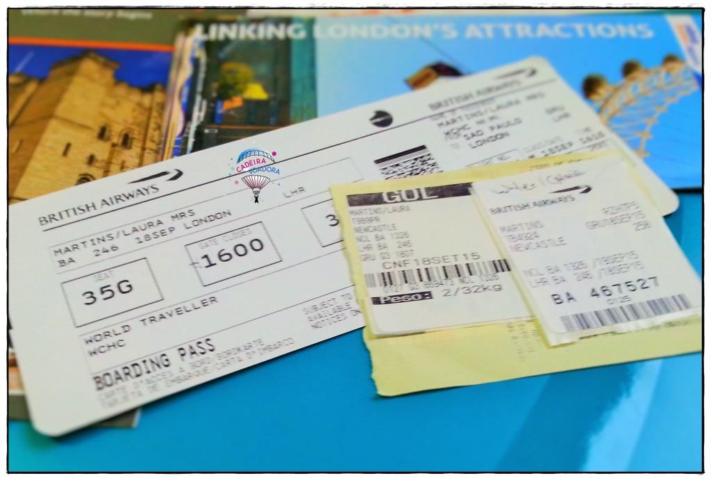 Veja meu bilhete aéreo: este é um voo codeshare, ou voo compartilhado.