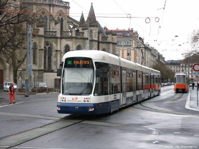 Tramway em Genebra (Imagem retirada do site Hampage.hu)