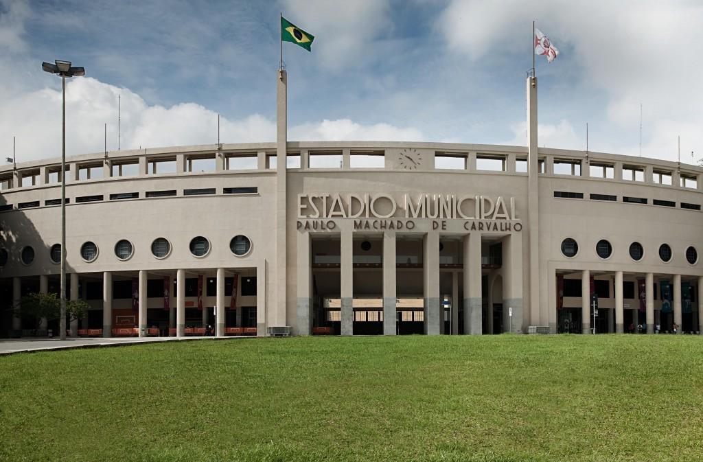 Frente do estádio do Pacaembu, em fotografia retirada do site do Museu.