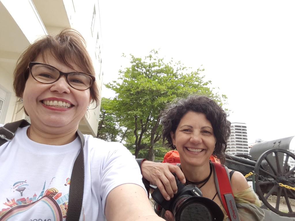 Selfie: Marta e eu no Forte de Copacabana!