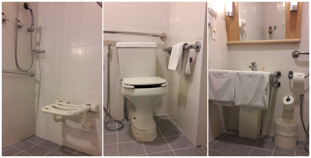 Observe, na montagem de fotos, as condições do banheiro.