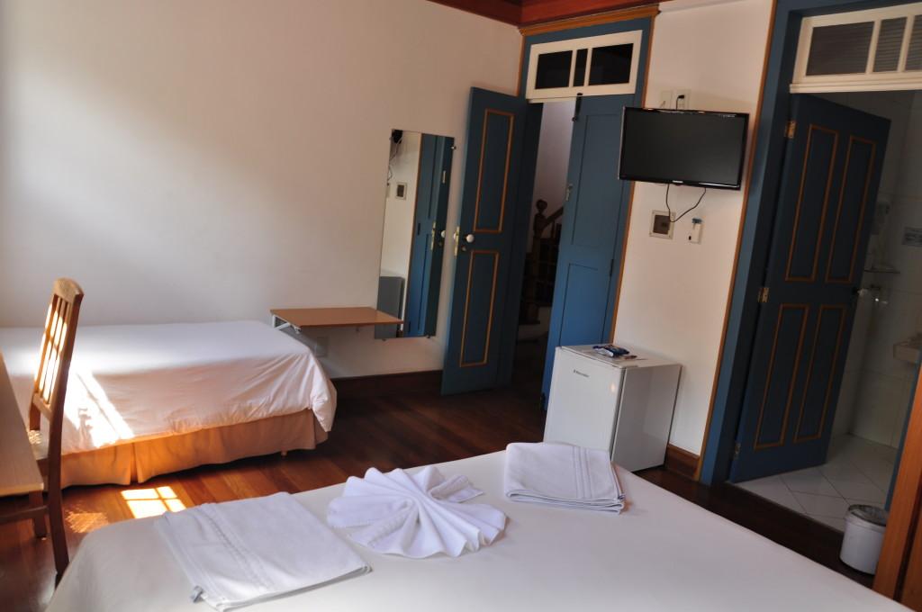 Todas as fotos do hotel foram gentilmente cedidas pelo Hotel Solar de Maria. Este foi o quarto ocupado pelo Pedro.