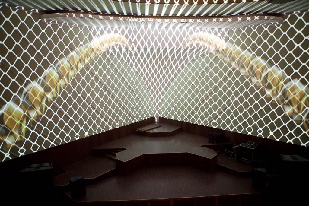 Mais detalhes da iluminação e do palco