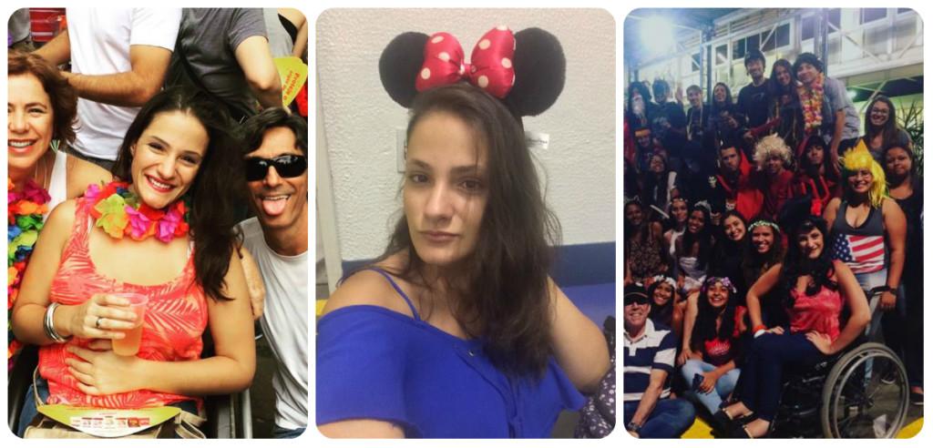 A animada Bruna no bloco Beiço do Wando e na folia da faculdade!