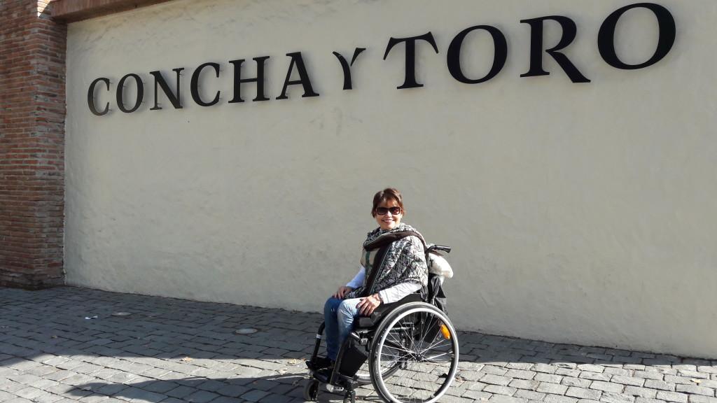 Estou na entrada da Vinícola Concha y Toro!
